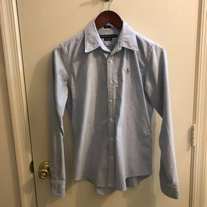 Ralph Lauren button down. Size 8.